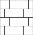 Tile wall panels template