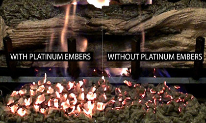 The Fireplace Man offers the best in gas logs for fireplaces in Houston